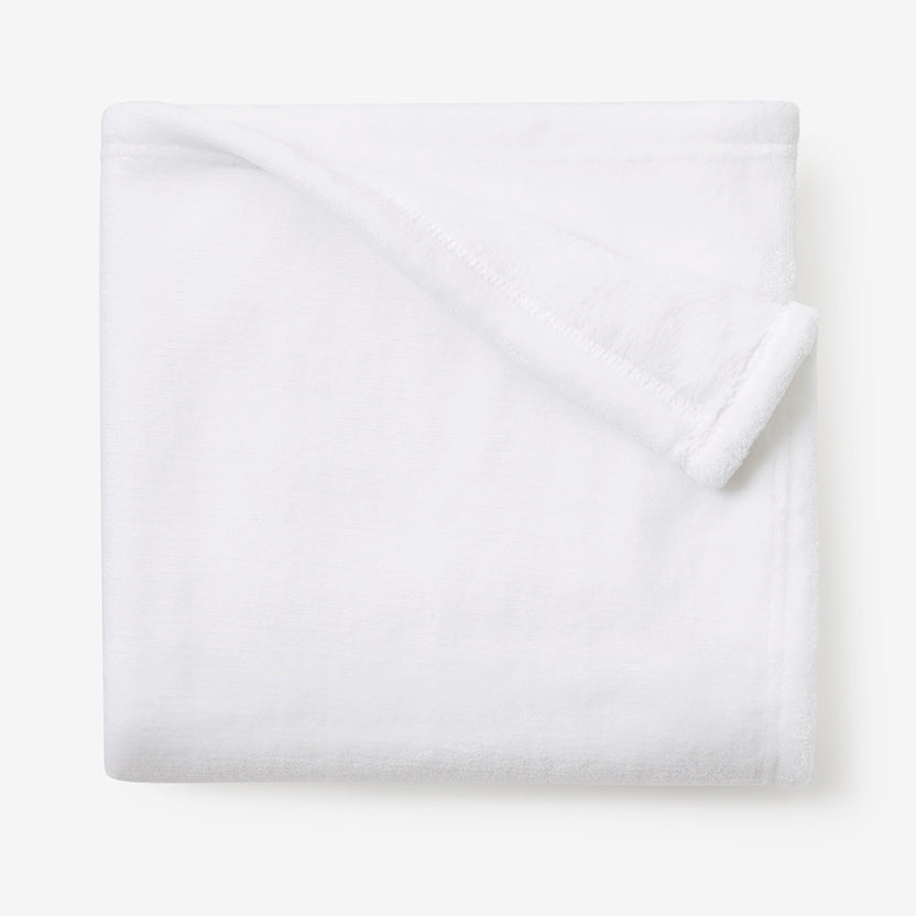 White Simple Fleece Baby Stroller Blanket