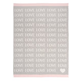 Love Blanket Gray/Pink 30x40