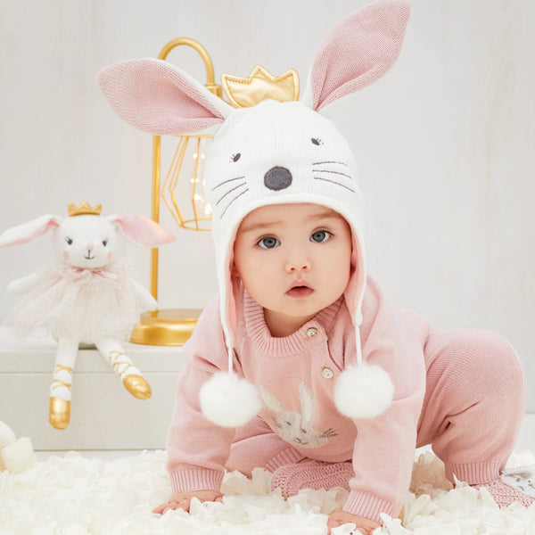 Bunny Aviator Knit Baby Hat