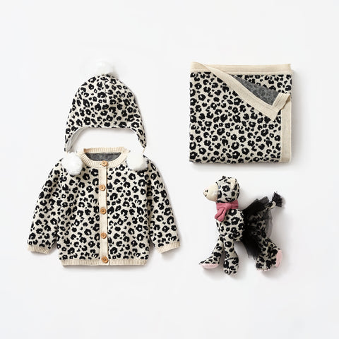 Leopard Print Baby Gift Set