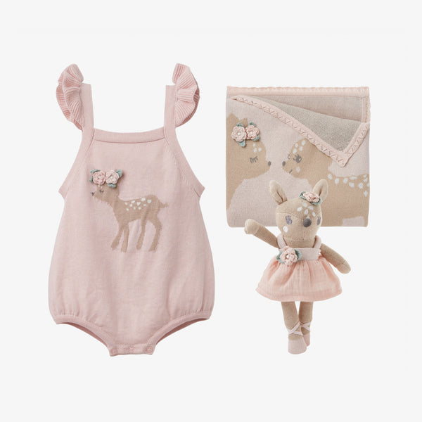 Fawn Knit Baby Gift Set