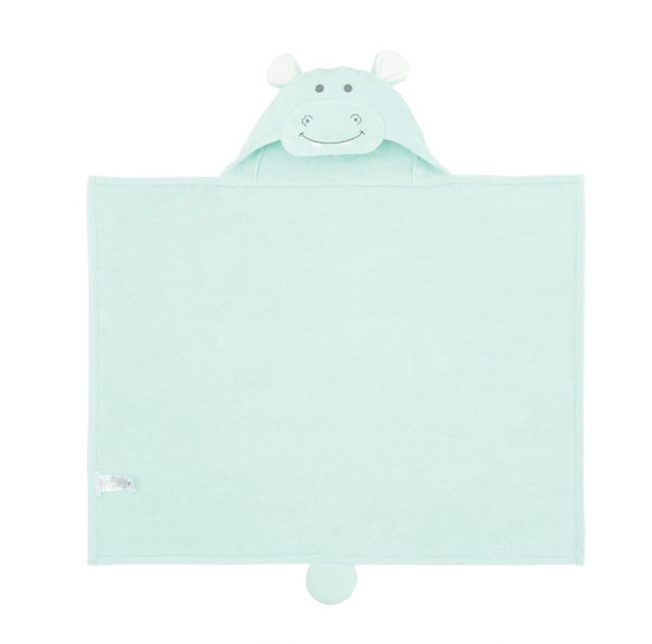 Hippo Hooded Baby Bath Wrap