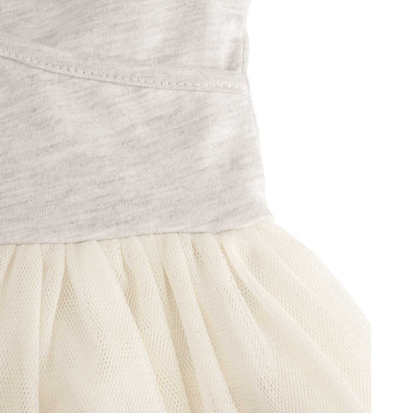 Cream & Gray Tutu Dress