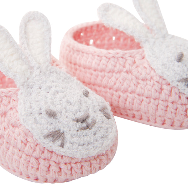 Bunny Hand Crocheted Baby Booties