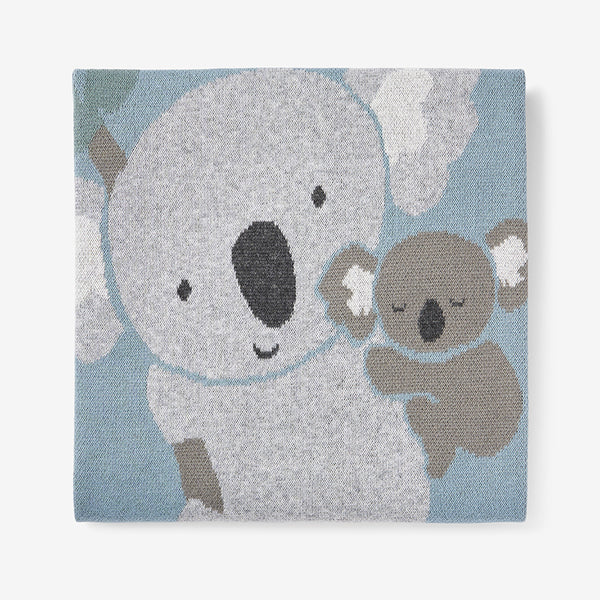 Koala Cotton Knit Baby Blanket