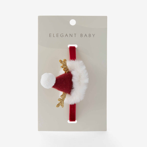Santa Hat Baby Girl Headband