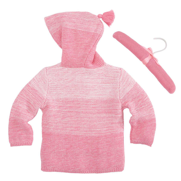 Coral Pink Ombre Tassel Baby Sweater