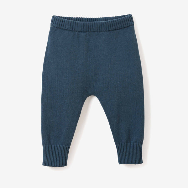 Dark Teal Fine Knit Cotton Baby Pant