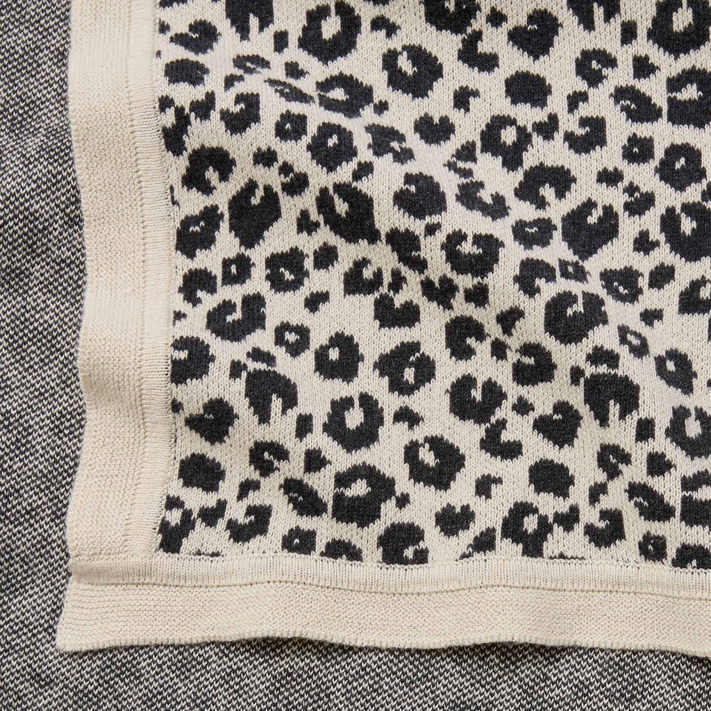 Leopard Print Cotton Knit Baby Blanket