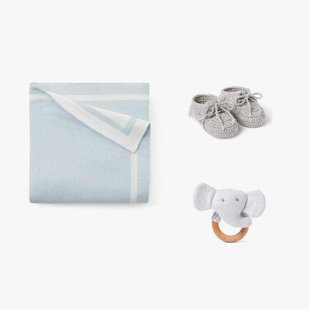Tux Blue Baby Layette Gift Set