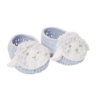 Lamb Hand Crocheted Baby Booties