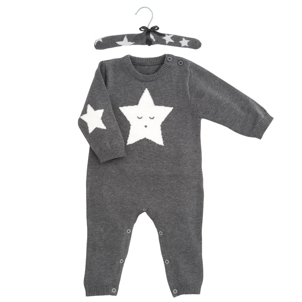 Charcoal Star Knit Jumpsuit