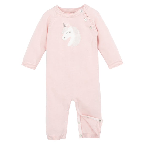 Pink Unicorn Knit Jumpsuit