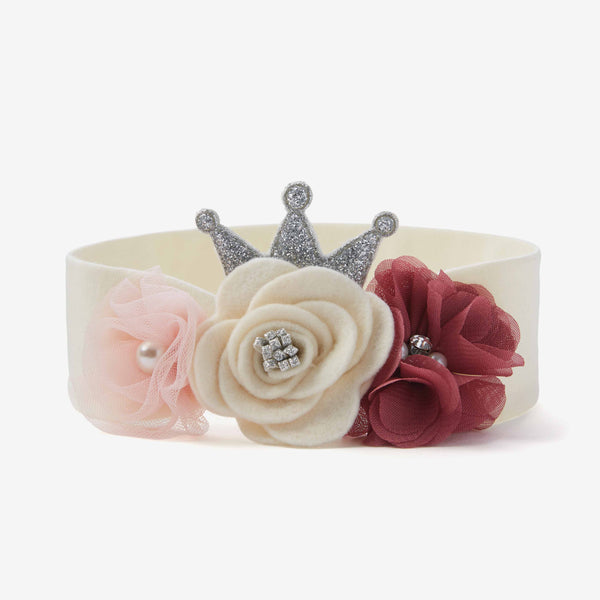 White Flower Crown Baby Girl Headband