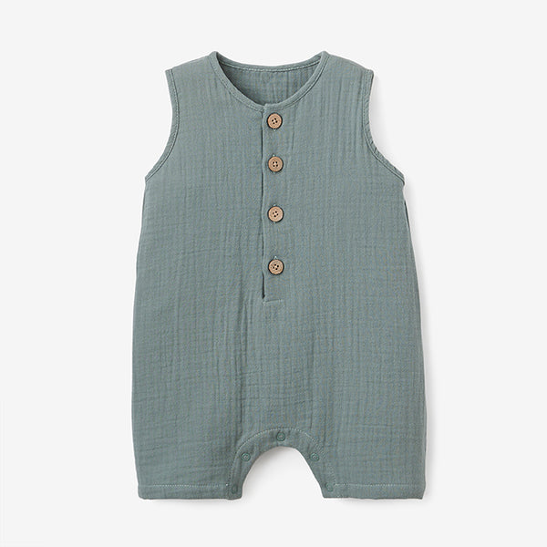 Sage Organic Muslin Button Down Shortall
