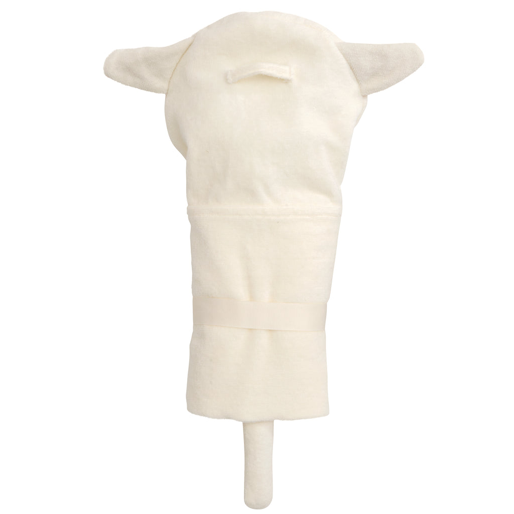 Cream Lambie Hooded Bath Wrap