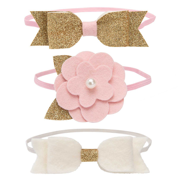 Sparkle Felt Baby Girl Headband 3 Pack