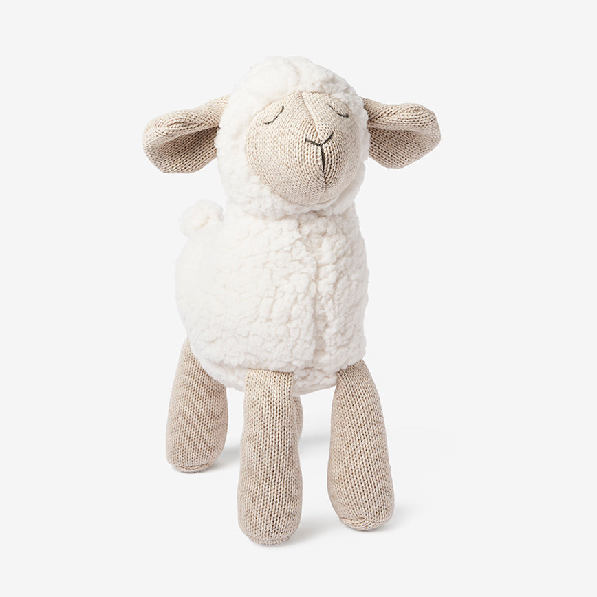"15"" Wheat Lamb Baby Knit Toy"