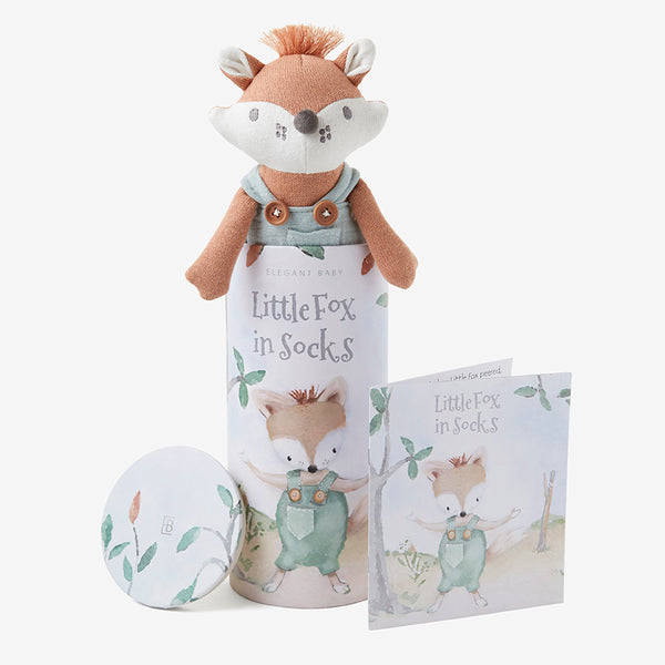 "10"" Felix the Fox Baby Knit Toy with Gift Box"
