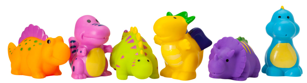 Dinosaur Party Squirtie Baby Bath Toys