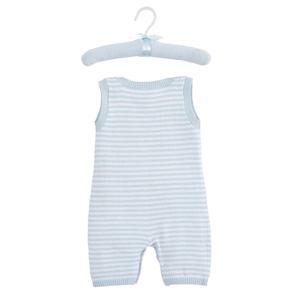 Blue Stripe Shortall Baby Bodysuit
