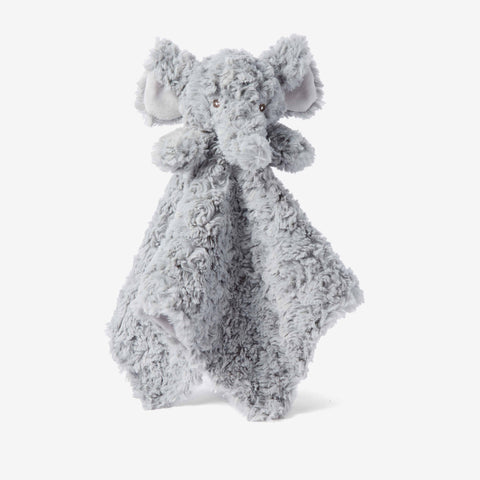 Gray Swirl Elephant Baby Security Blanket