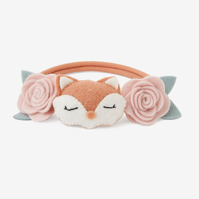 Fox Rose Felt Nylon Baby Headband