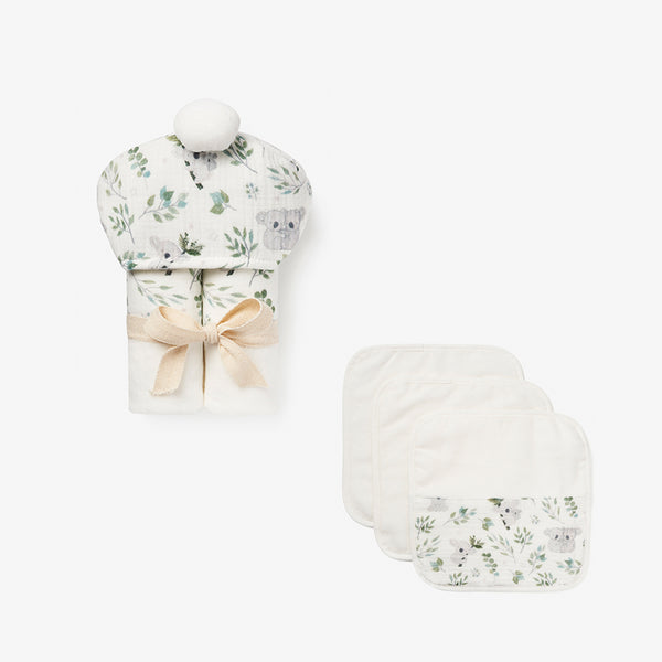 Koala Organic Cotton Baby Bath Set
