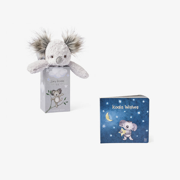 Joey Koala Snuggle Plush + Board Book Set