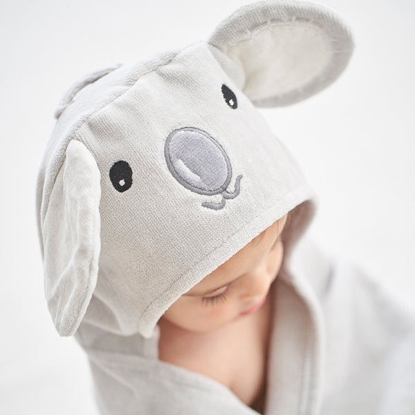 Koala Hooded Baby Bath Wrap