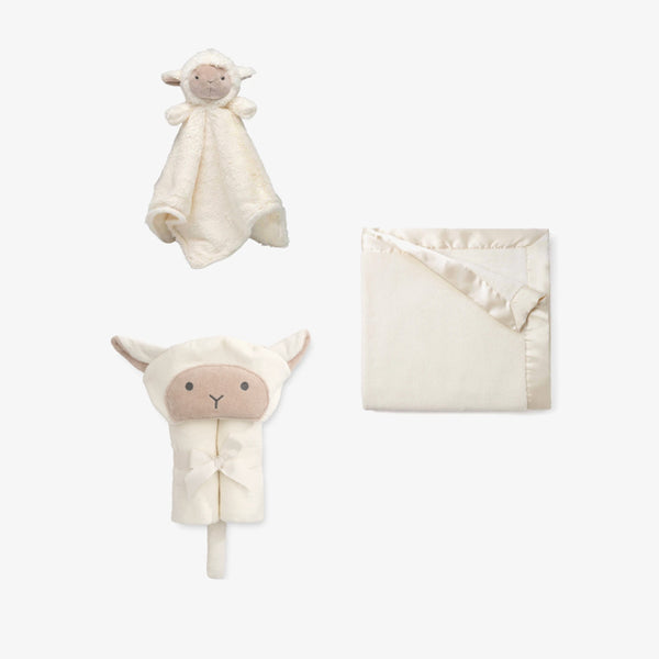 Plush Lamb Baby Gift Set