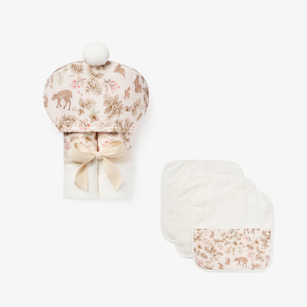 Woodland Organic Cotton Baby Bath Set
