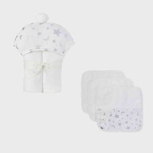 Celestial Organic Cotton Baby Bath Set