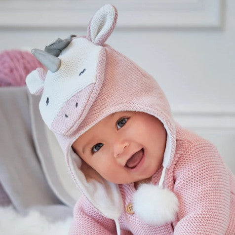 Unicorn Aviator Knit Baby Hat