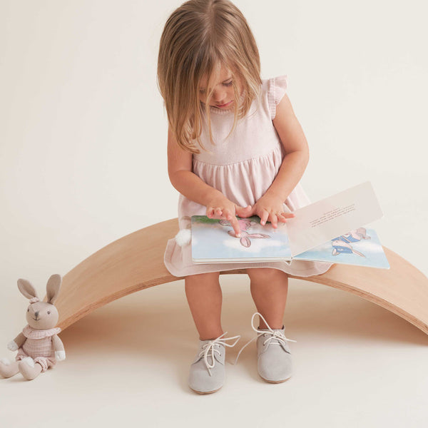 Annabel Bunny Knit Toy + Book Set
