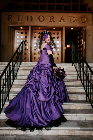 Ela's Glamorous Purple Wedding