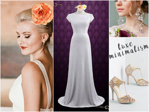 How to Create a Luxe Minimalist Bridal Look
