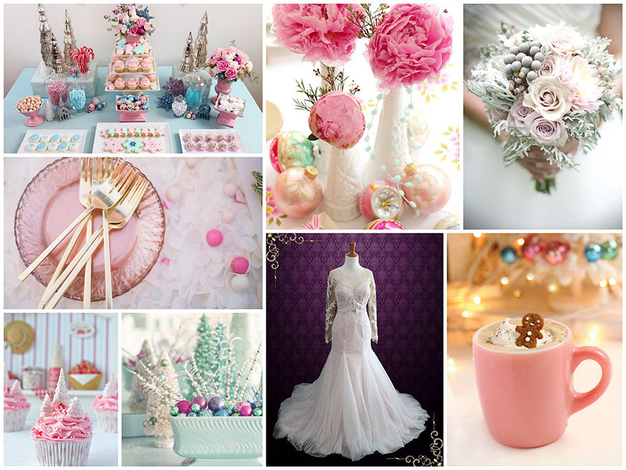 A Frosty Pastel Winter Wedding Inspiration Board