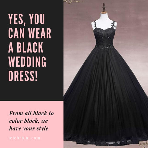 Yes, You Can Wear a Black Wedding Dress!