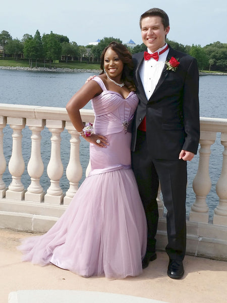 Aliyah's Purple Rose Prom Dress