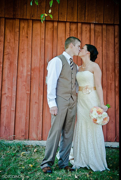 Cotton Lace Wedding Dress