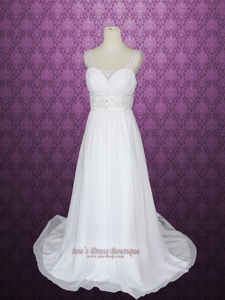 Simple Empire Sheath Wedding Dress