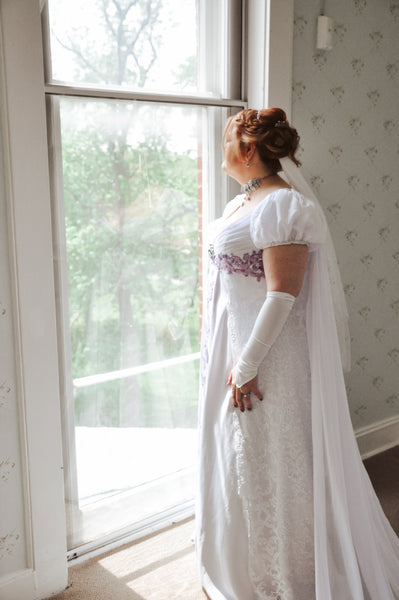 Angie's Wedding Dress with Cape