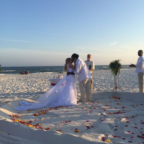 Beach Lace Wedding Dress