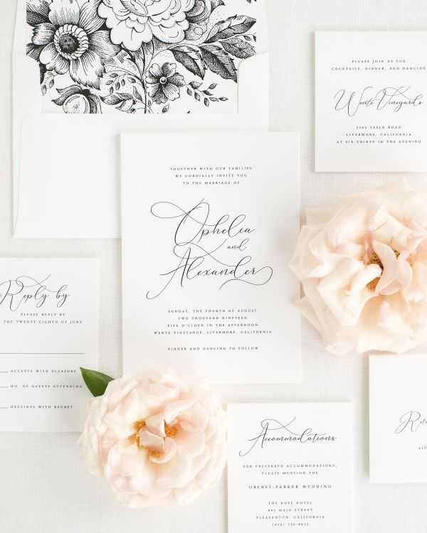 Ophelia Wedding Invitation Suite