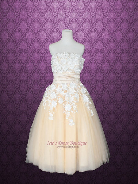 Summer Tea Length Wedding Dress