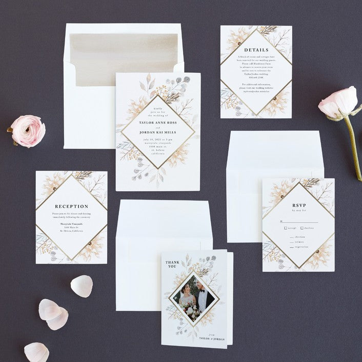 Contemporary Romance Wedding Invitations