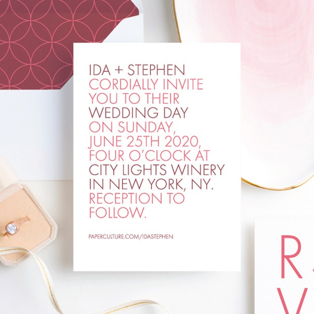 All Caps Wedding Invitation