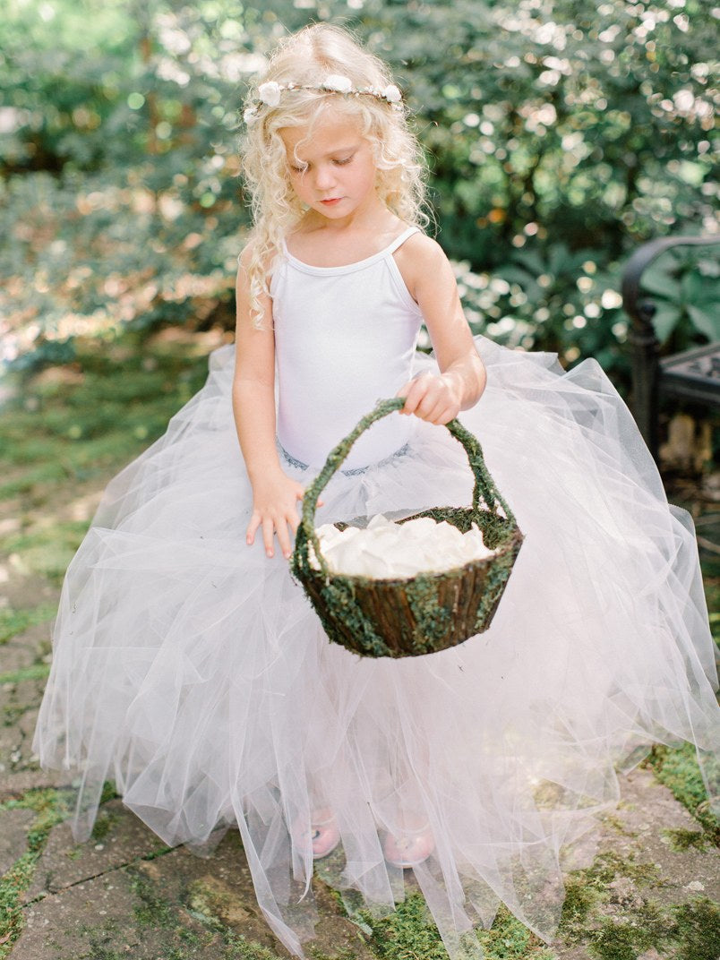 Ballet-inspired Wedding Flower Girl