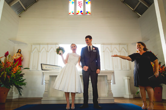 Bethany's Retro Church Wedding